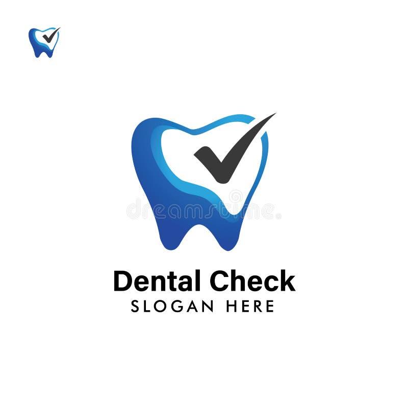 Logo Template dental projeto do s?mbolo do ?cone dos cuidados dent?rios ilustração do vetor
