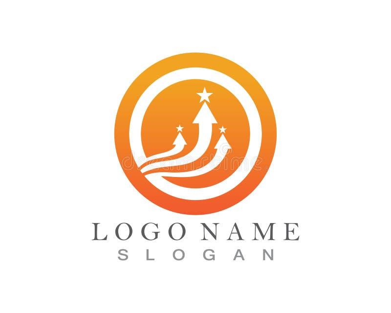 Logo Template f?r symbol f?r pilvektorillustration design stock illustrationer