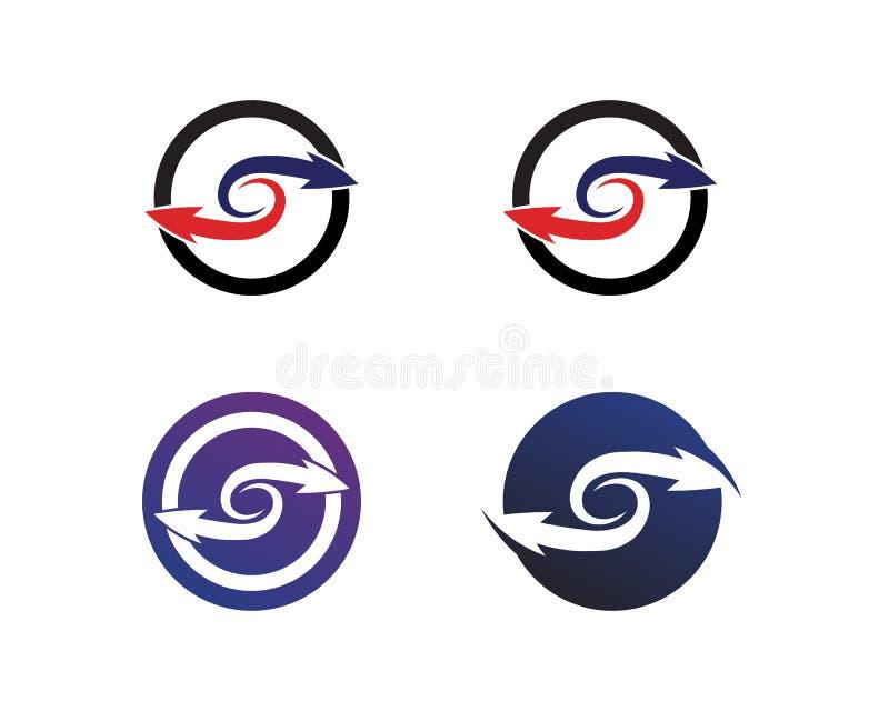 Logo Template f?r symbol f?r pilvektorillustration design vektor illustrationer