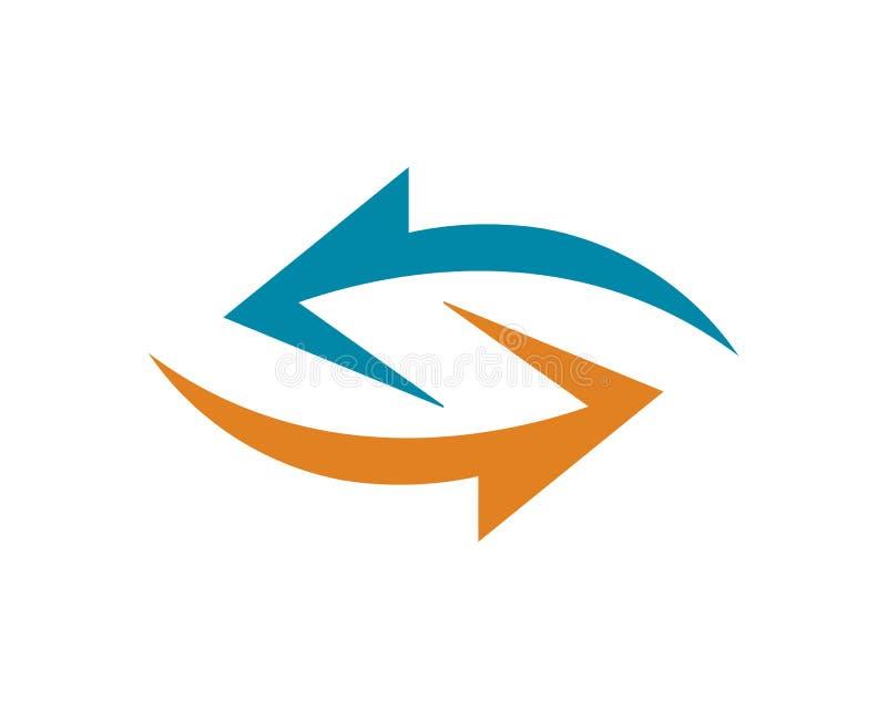 Logo Template f?r symbol f?r pilvektorillustration design royaltyfri illustrationer