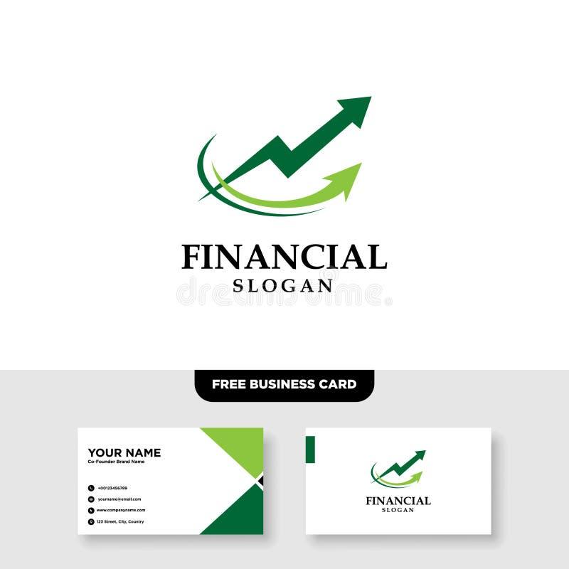 Logo Template finanziario, contabilità Logo Template, biglietto da visita libero fotografia stock