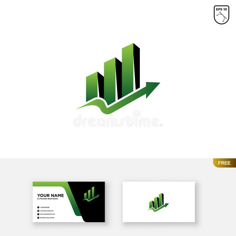 Logo Template finanziario, Logo Template di stima e biglietto da visita fotografia stock