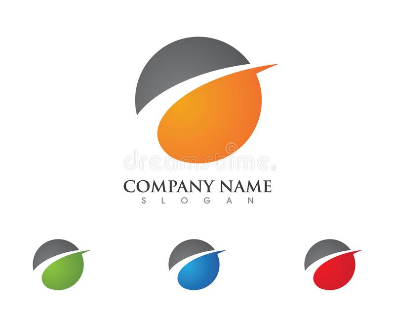 Logo Template más rápido stock de ilustración