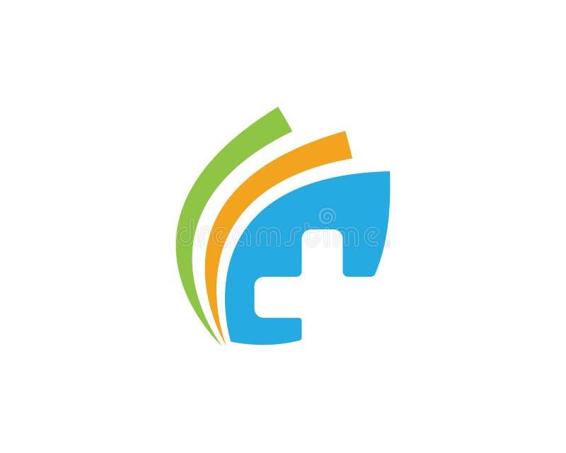 Logo Template médical illustration stock