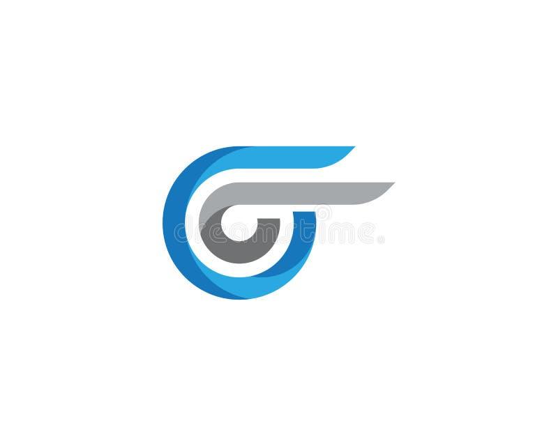 Logo Template mais rápido ilustração royalty free