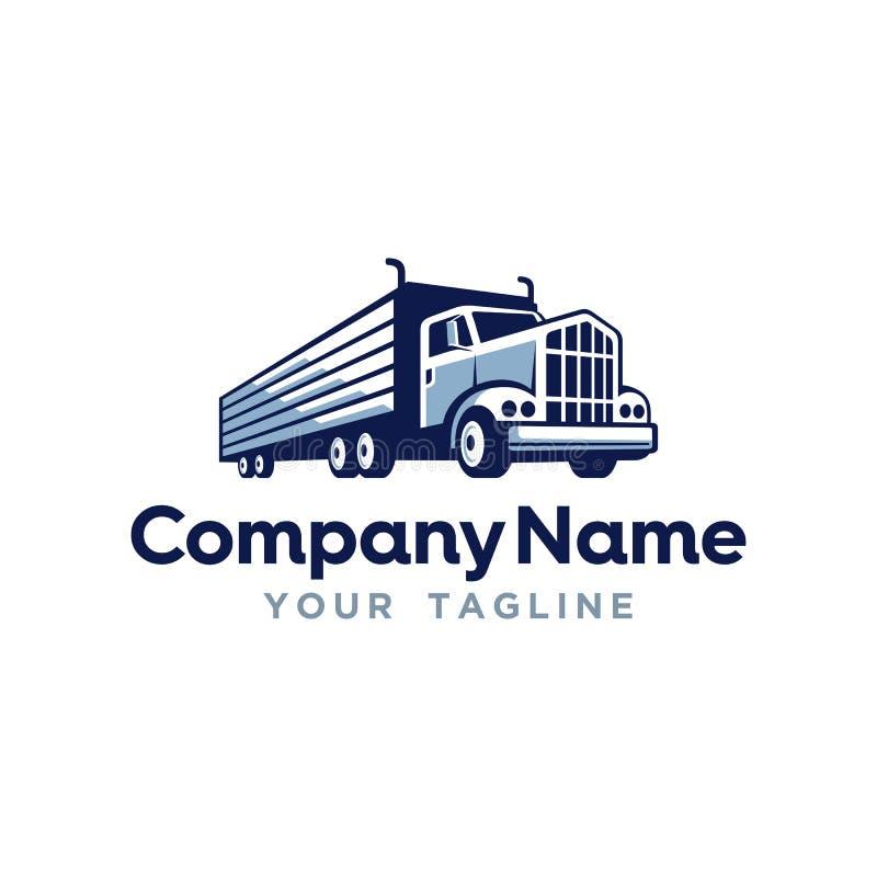 Logo Template para a empresa de transporte de transporte por caminhão fotos de stock royalty free