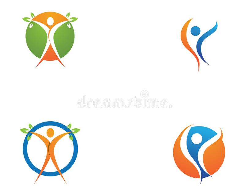 Logo template - successful people people care vector illustration