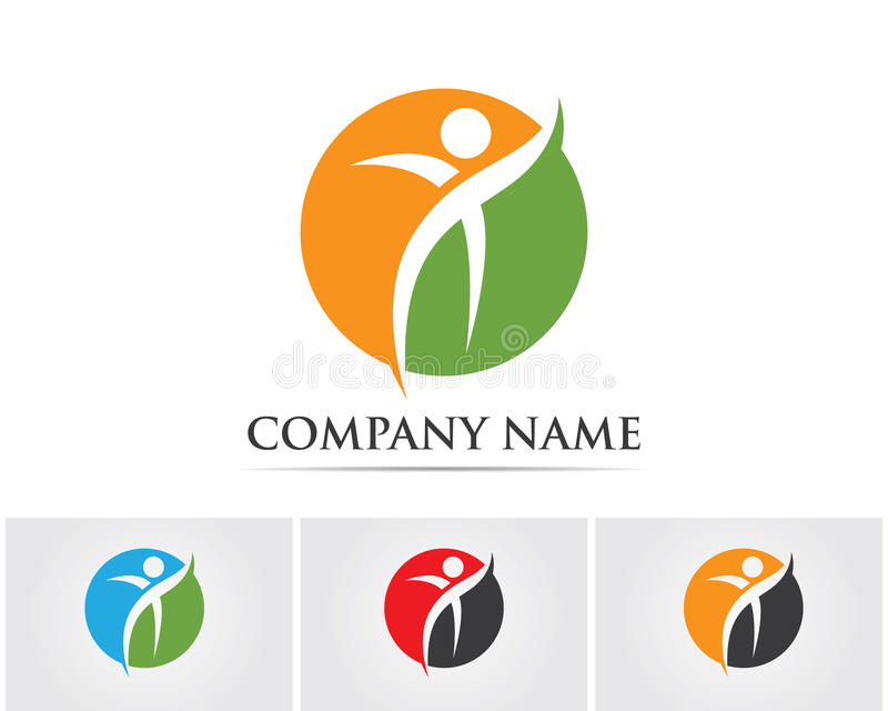 Logo template - successful people stock illustration