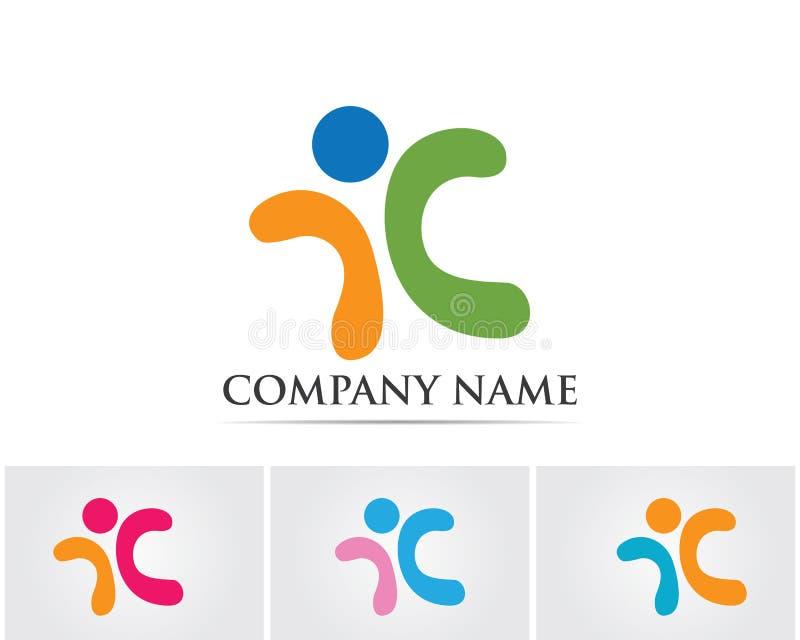 Logo template - successful people vector illustration