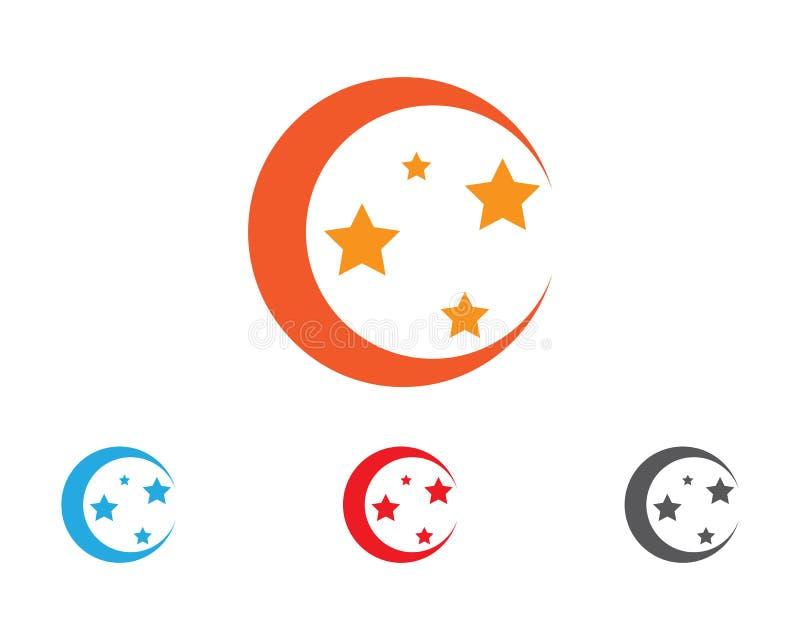 Logo Template-Vektorikone Falke des roten und blauen Sternes stock abbildung