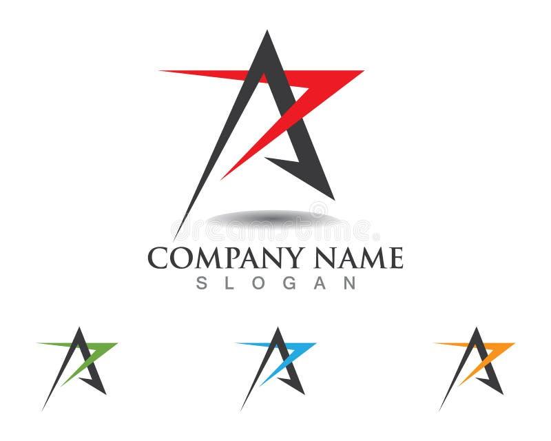 Logo Template-Vektorikone Falke des roten und blauen Sternes vektor abbildung