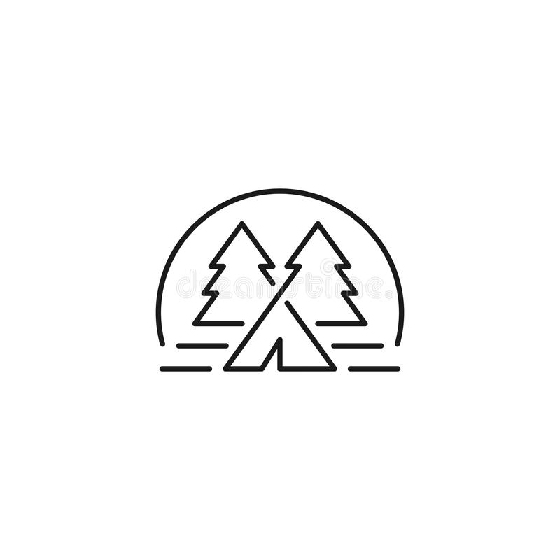 Logo Template Vetora de acampamento foto de stock royalty free