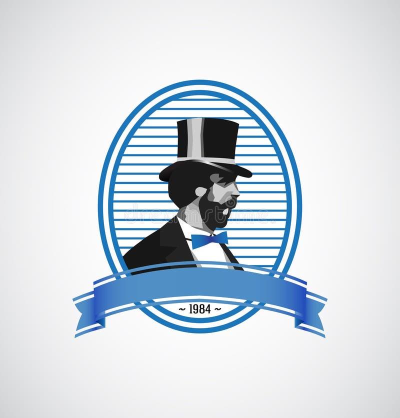 Download Logo Template - Vintage Man Illustration Stock Vector - Image: 25449018