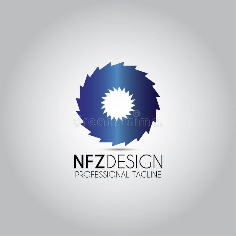 Circular Whipsaw Sawing Logo royalty free illustration