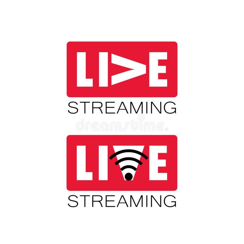 Logo in tensione della corrente illustrazione vettoriale