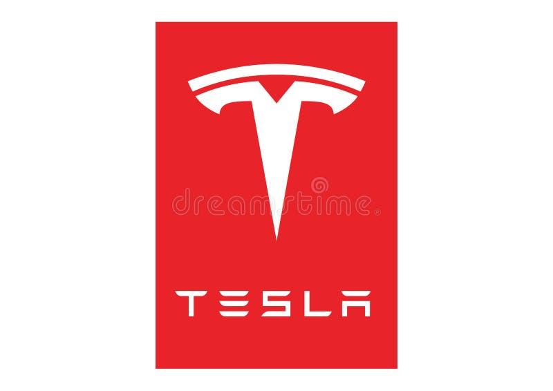 Logo Tesla Motor. Logo Tesla car color vector format aviable ai