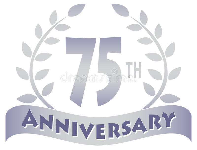 Download Seventy-Fifth Anniversary Banner/eps Stock Vector - Image: 30093050