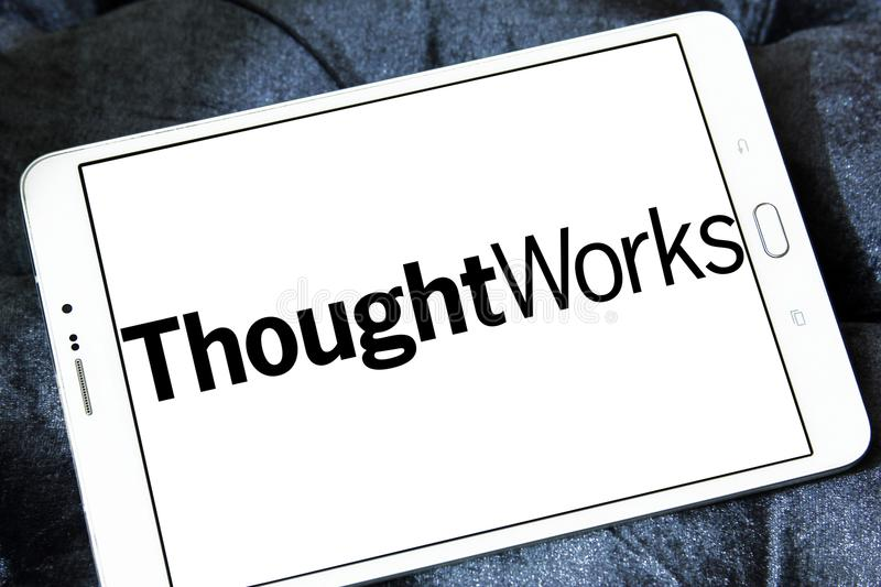 ThoughtWorks company logo royalty free stock photos