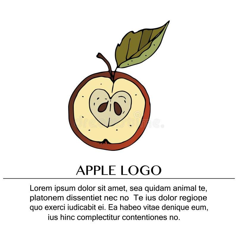 Logo tiré par la main de griffonnage de vecteur illustration stock