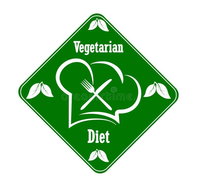 Logo to design a Vegetarian menu restaurant, catering or gastroservice vector illustration