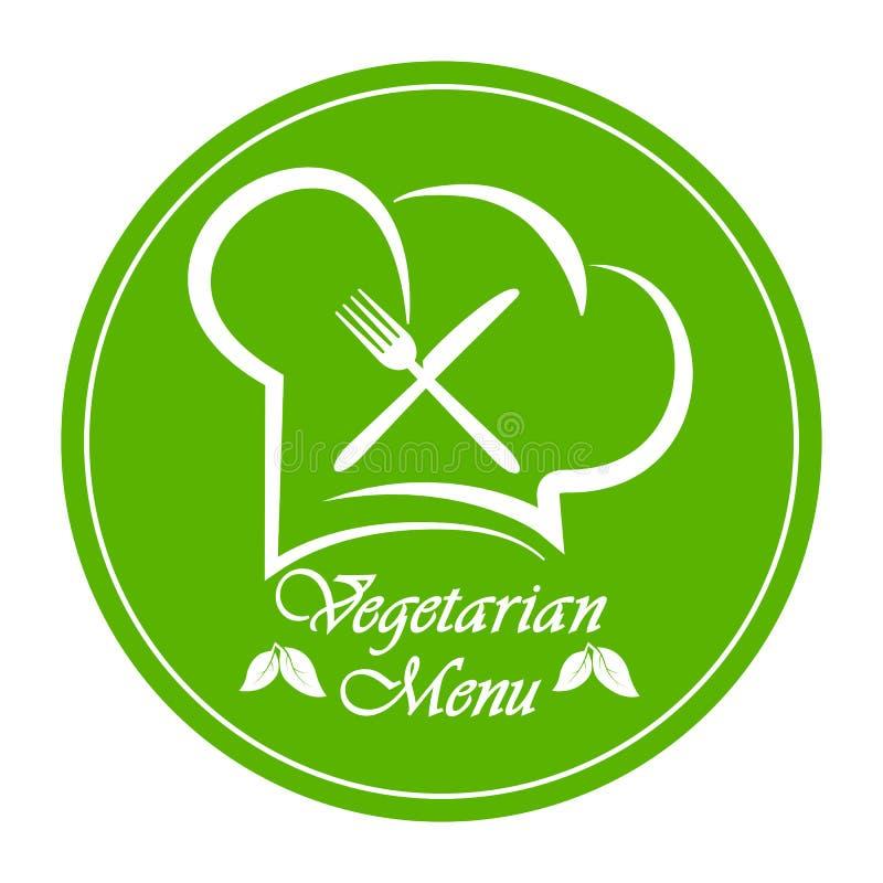 Logo to design a Vegetarian menu restaurant, catering or gastroservice stock illustration