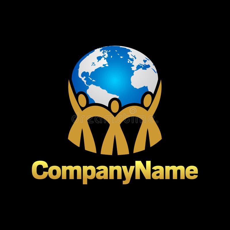 Logo Togehterness en Groepswerk royalty-vrije stock afbeeldingen