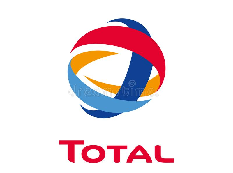 Logo Total illustration stock