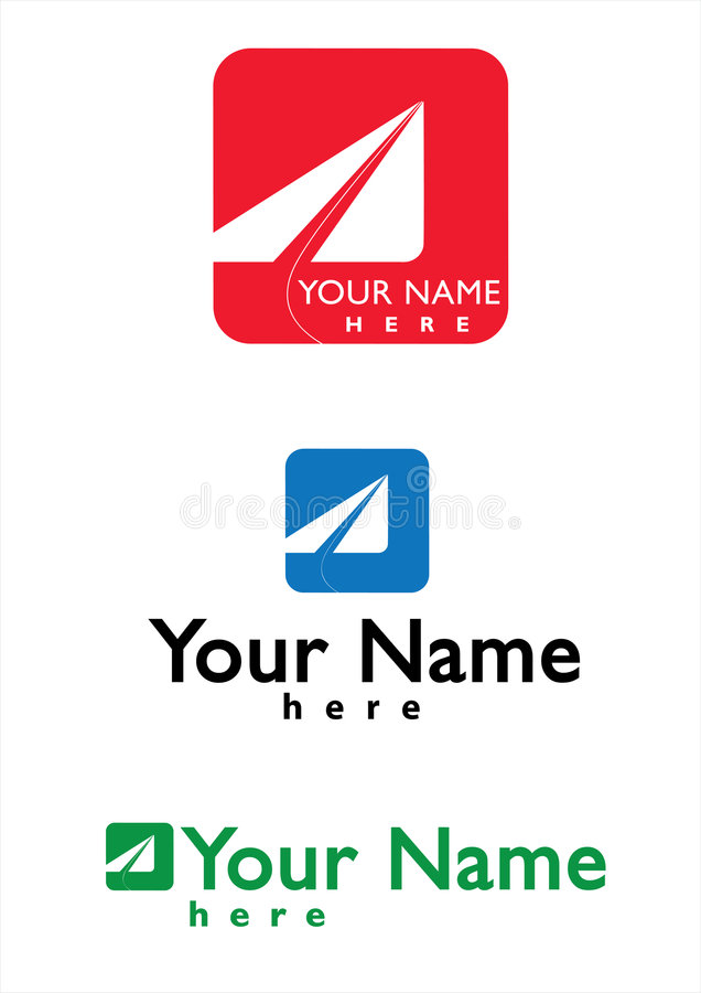 Logo for transportation, travel business. Logo for any enterprise who has to do with Courier, Travel, Transport and Aviation services. Text and colors are vector illustration