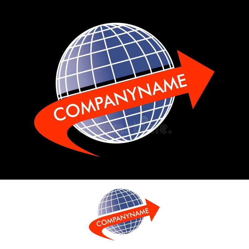 Logo Travel of Coureer-Bedrijf royalty-vrije stock foto's