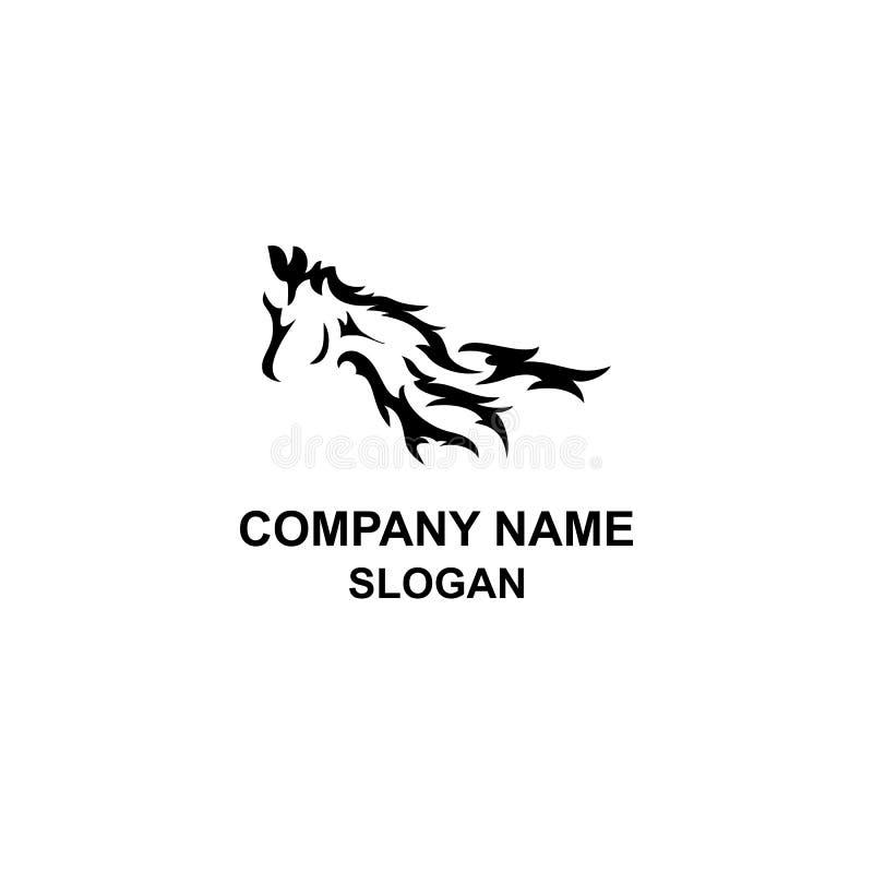Logo tribal de tête de cheval illustration stock