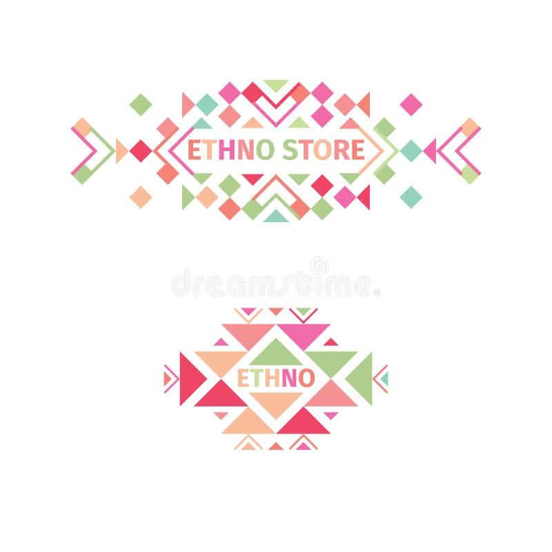 Logo tribal réglé sur le fond blanc illustration libre de droits