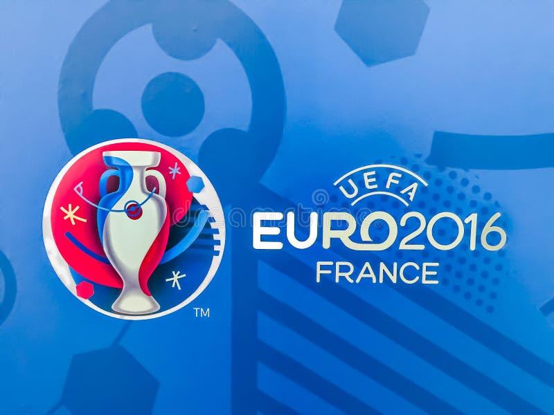 Logo ufficiale del campionato europeo 2016 dell'UEFA in Francia illustrazione di stock