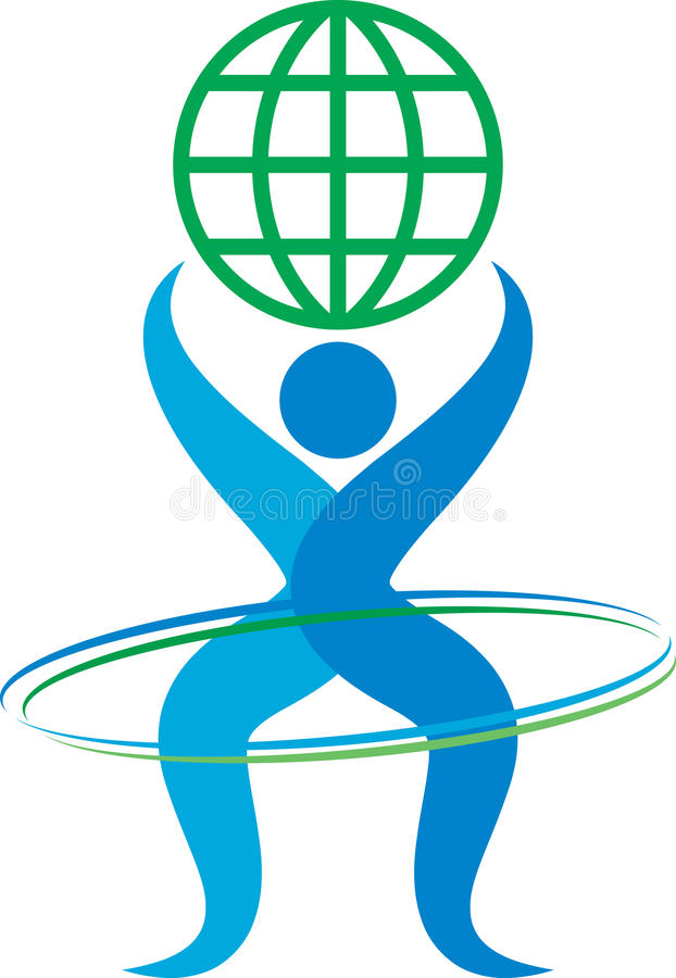 Logo umano illustrazione vettoriale