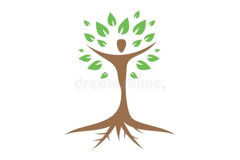 Logo umano dell'albero illustrazione di stock