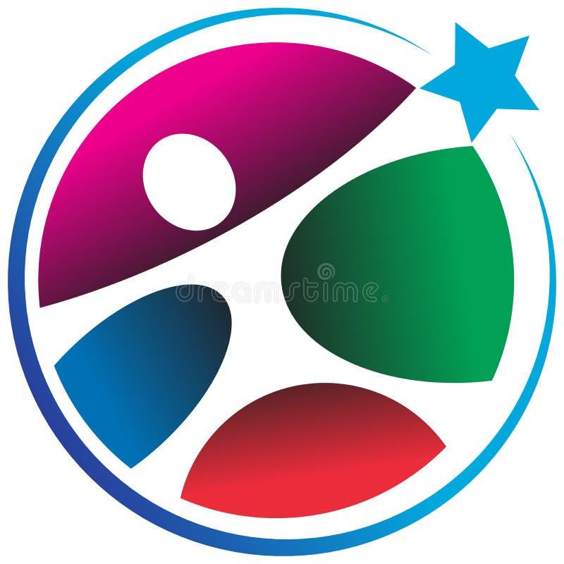 Logo umano della stella illustrazione di stock