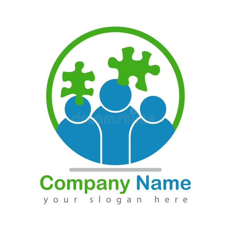 Logo umano di mente di puzzle su bianco royalty illustrazione gratis