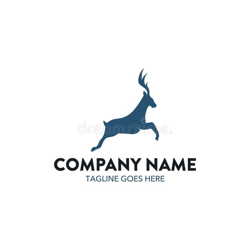 Logo unico dei cervi illustrazione di stock
