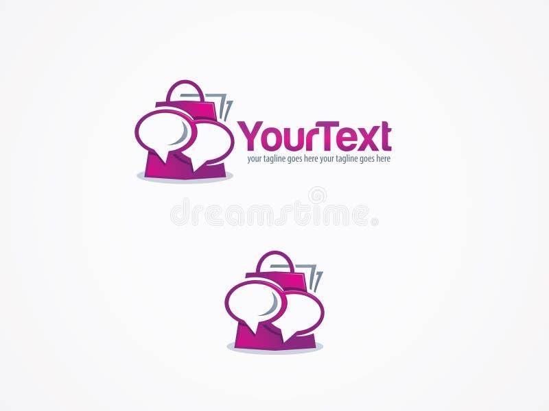 Logo unico di acquisto immagini stock