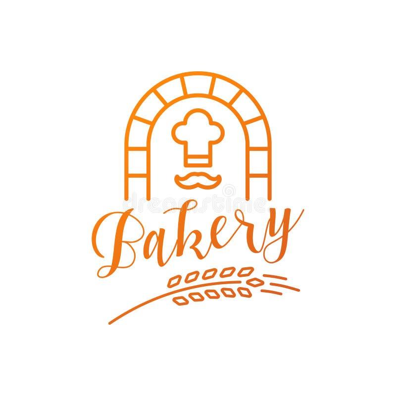 Logo unique de boulangerie illustration stock
