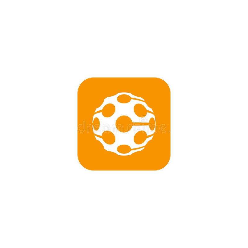 Logo unique de boule de golf illustration libre de droits