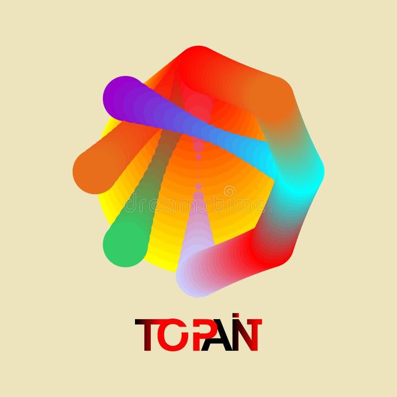 Logo unique de cercle de gradient de couleur illustration libre de droits
