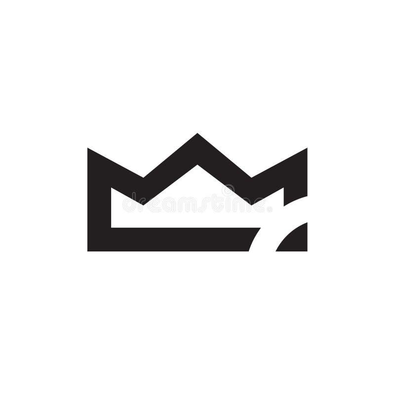 Logo unique de logo de couronne - vecteur photographie stock