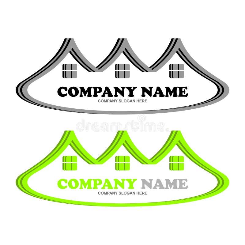 Logo unique de Real Estate images libres de droits
