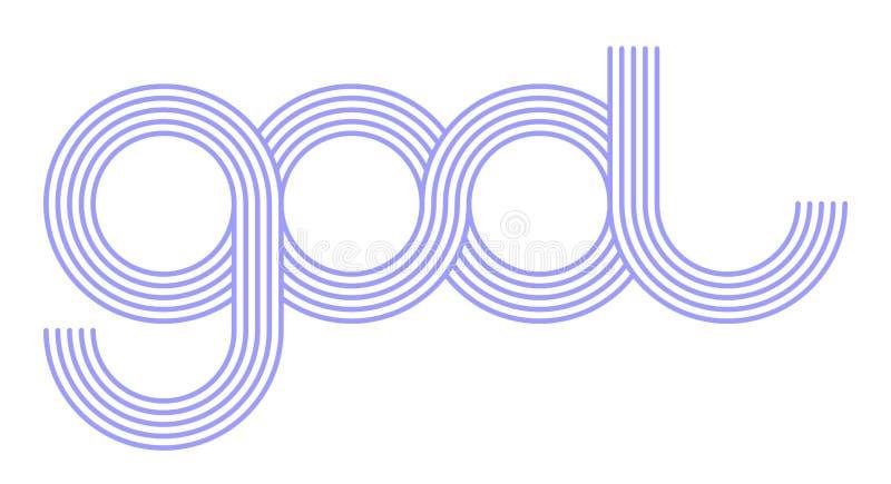 Logo unique et étonnant de gool illustration stock