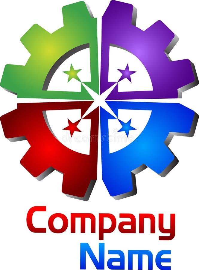 Logo unito dell'ingranaggio illustrazione di stock