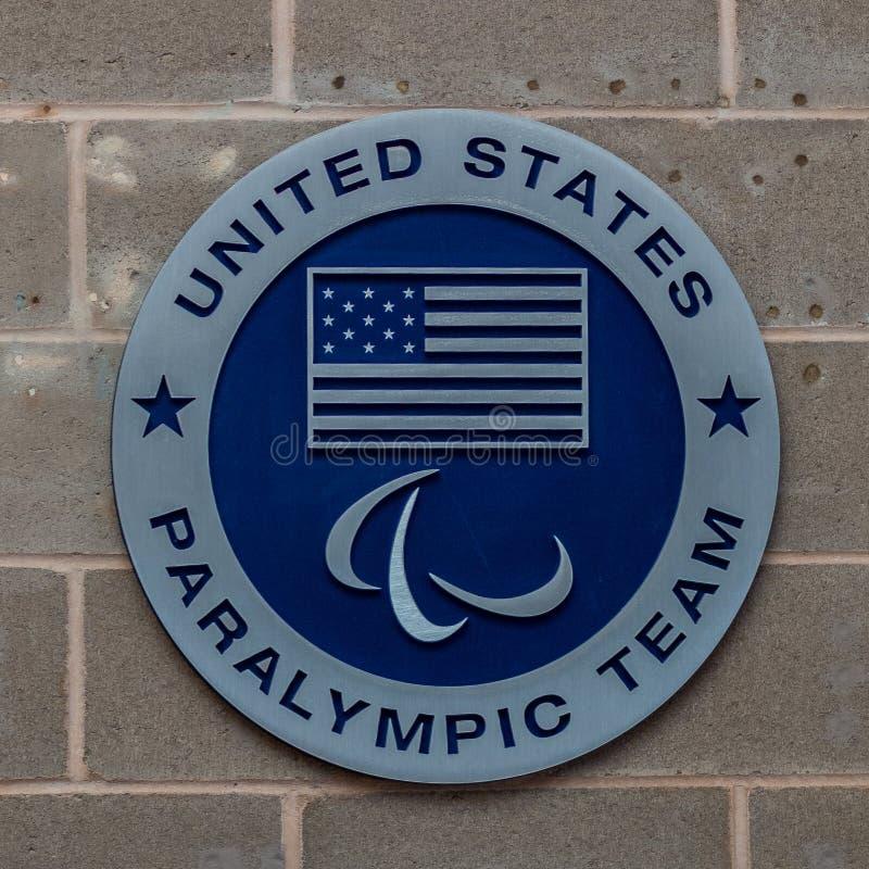 Logo USA Paralympic drużyna zdjęcia stock