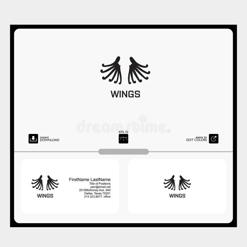 logo uskrzydla pojęcie dla społeczności technologii prostej ilustracja wektor