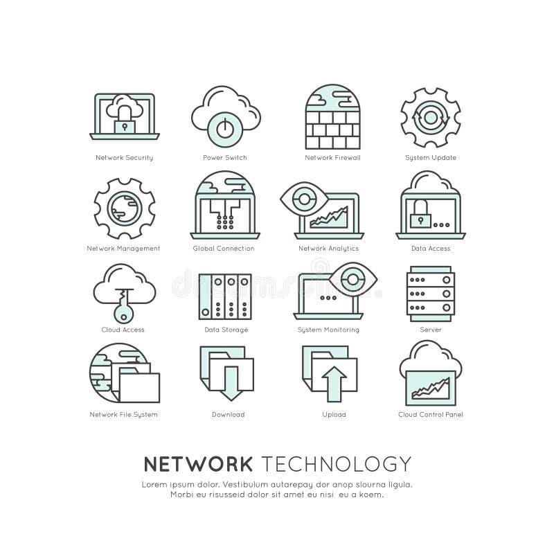 Logo Ustawiający sieci technologia ilustracja wektor