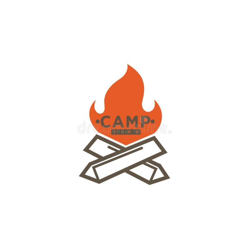 Logo variopinto del campo illustrazione vettoriale