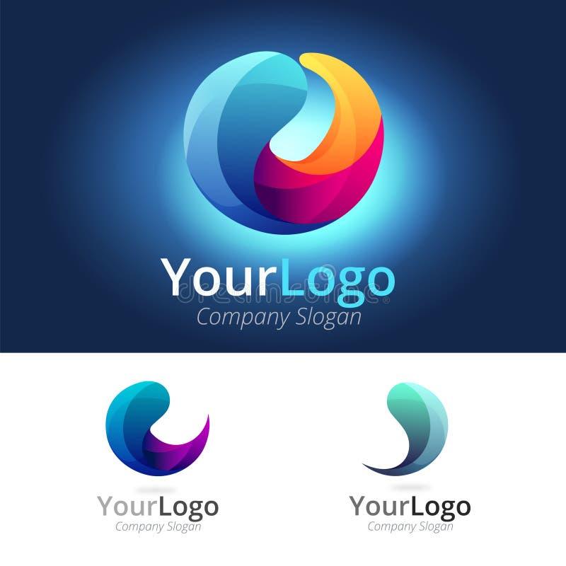 Logo variopinto del cerchio illustrazione vettoriale
